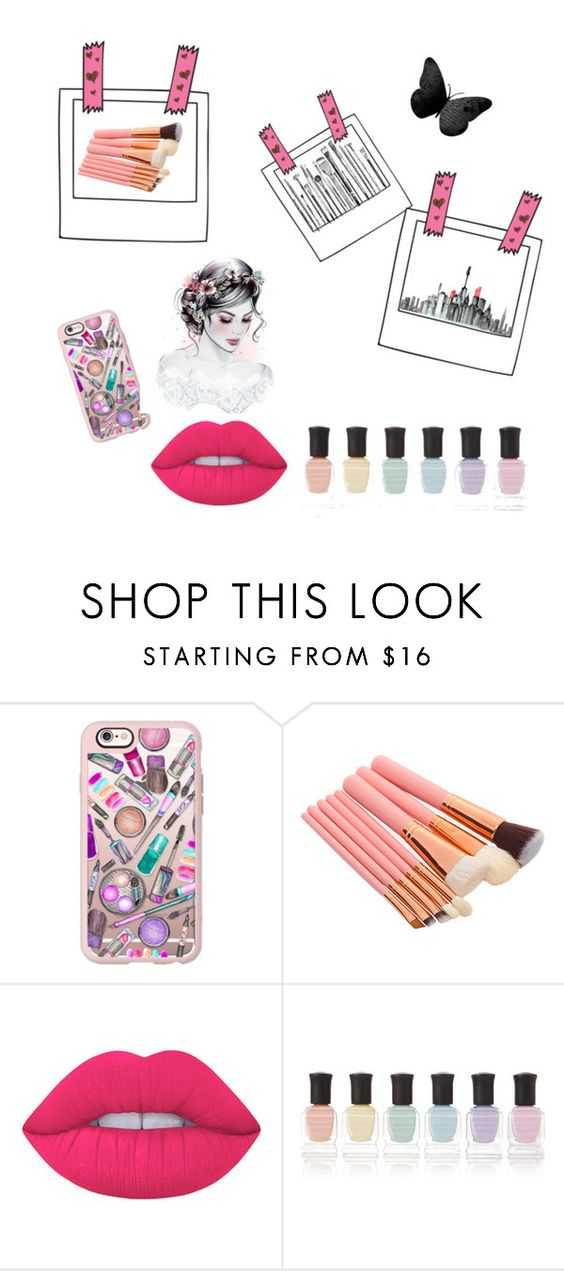 """Dream set"" by emilymettas ❤ liked on Polyvore featuring Casetify, Lime Crime and Deborah Lippmann"
