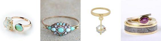 Anelli donna  Nel nuovo anno dovremo procurarci anelli con pietre semi-preziose come opali, turchesi, diaspro, cristallo di roccia, ma anche diamanti sintetici e perle.