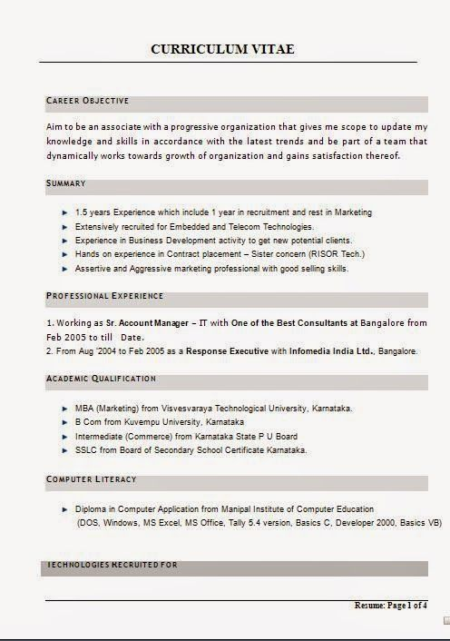 graphic designers cv CURRICULUM VITAE Sample Template Example of - update resume format