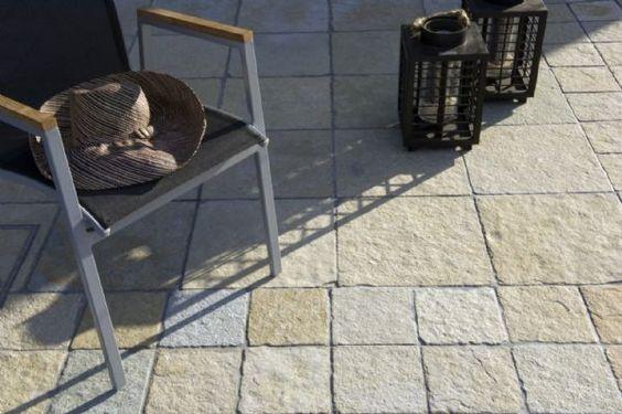 Terrassen in natuursteen - Tandur Yellow - BELTRAMI natuursteen