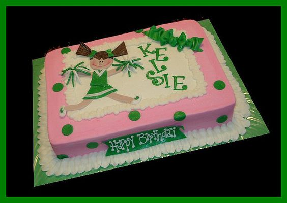 Cheerleading Cake idea - sheet cake