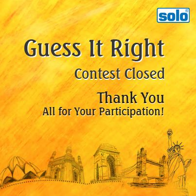 "Your response on Solo's ""Guess It Right"" Contest is greatly appreciated. Entries for Contest Q.2 have been closed now, name of the lucky winner will shortly be announced; keep watching this space for more!"