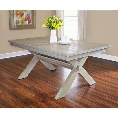 Powell Turino Rectangle Dining Table Grey Walmart Com In 2021 Rectangle Dining Table Rustic Farmhouse Dining Table Grey Dining Tables