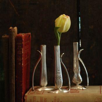 Fork Art Bud Vase