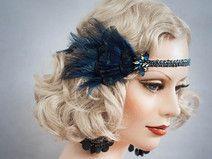 Federn Haarschmuck 20er Haarband Stirnband Flapper