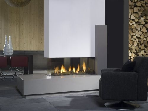 Contemporary 3 sided fireplace (gas closed hearth) - VIEW BELL ...