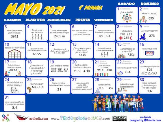 Calendario Cuarto ABN – Mayo 2021