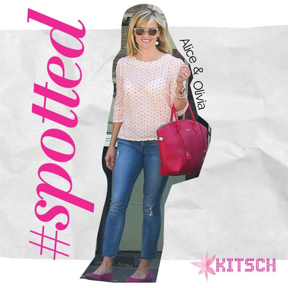 #Kitsch #Spotted Legally Blonde star Reese Witherspoon shopping in Alice & Olivia Daphney Ballet flats! How would you wear these?