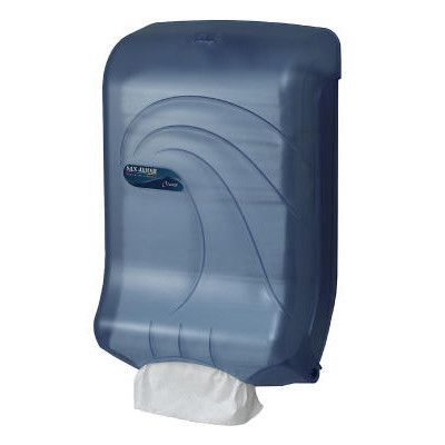 San Jamar Large Capacity Ultrafold Multi /C-Fold Towel Dispenser in Blue