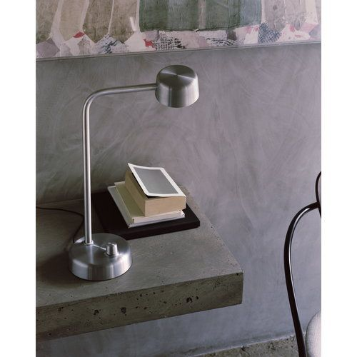 Tradition S Working Title Hk1 Table Lamp In Hand Polished Aluminium Designed By Harri Koskinen Tradition Harrikoskinen Lamp Table Lamp Table Lamp Lighting