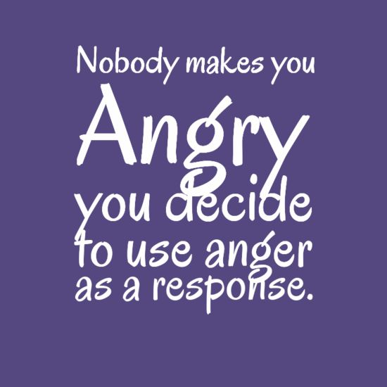Nobody makes you Angry you decide to use anger as a response   Anonymous ART of Revolution:
