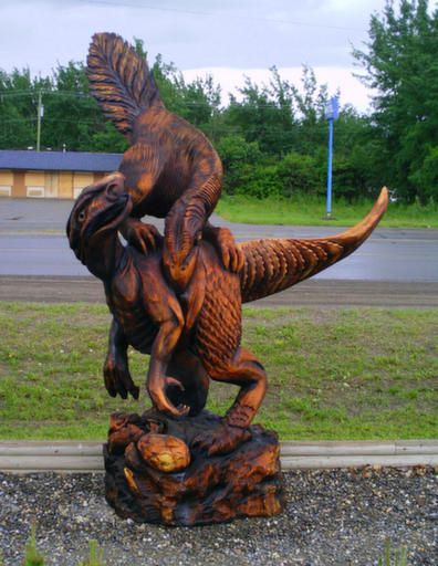 Chetwynd b c world championship chainsaw carvings
