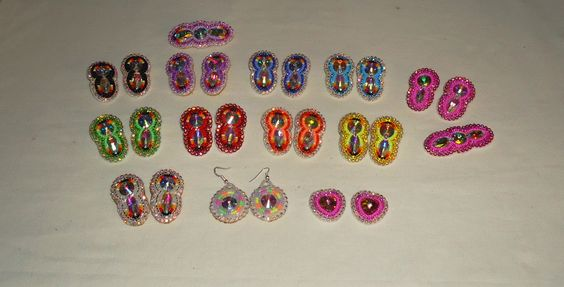 beaded blingy earrings