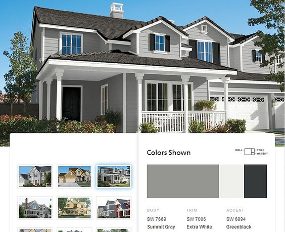 Possible Exterior Paint Colors Summit Gray By Sherwin Williams Home Pinterest The Cottage