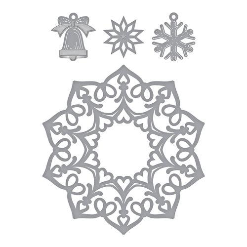 New Spellbinders Metal Cutting Dies Christmas Deck The Halls S3-378