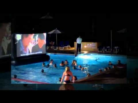 AquaScreen a Floating Inflatable Movie Screen for your swimming pool why not ?