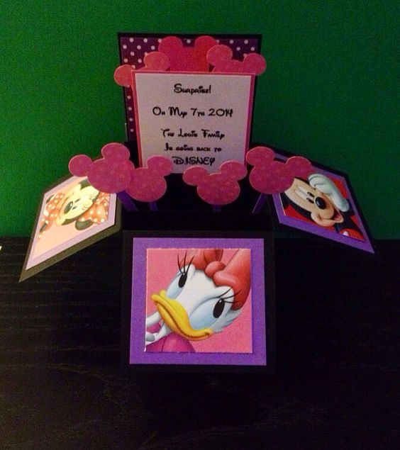 Surprise Disney Trips, Disney Trips And Pop Up Cards On
