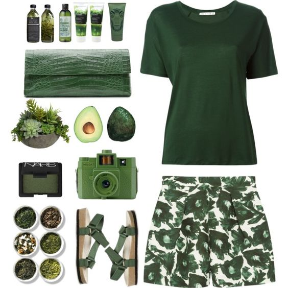 nature theme by bodangela on Polyvore featuring polyvore beauty NARS Cosmetics Korres Sisley The Body Shop Nancy Gonzalez Acne Studios Mother of Pearl Tea Collection Diane James Guide London