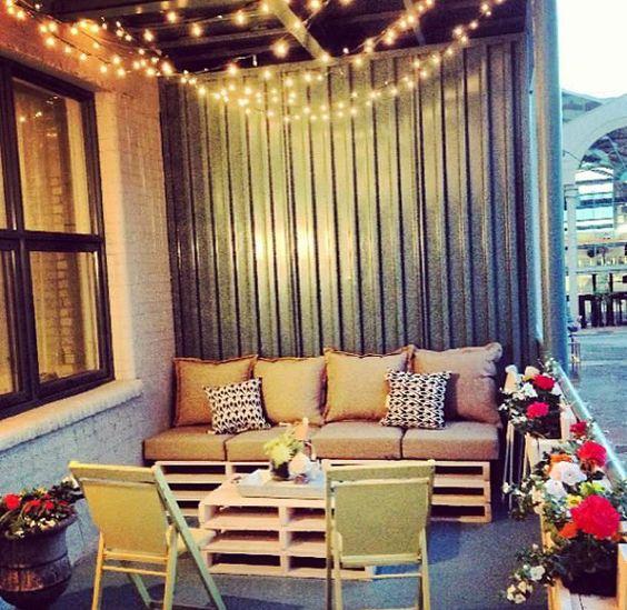 20 small balcony lighting ideas patio pinterest for Iluminacion para balcones