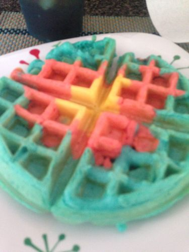 Colorful waffles