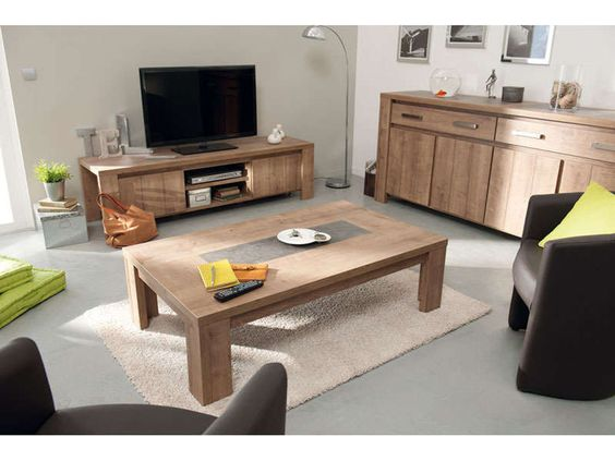 Table basse rectangulaire canape salon ps and tables - Table basse modulable conforama ...