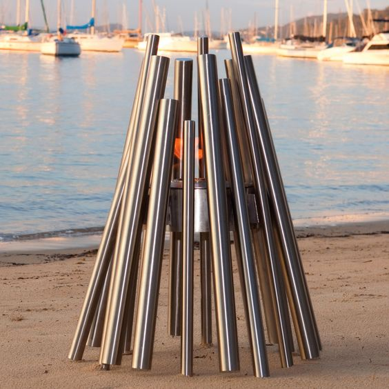 Stainless Steel Eco Smart Outdoor Fire.