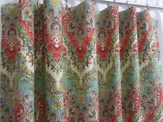 Beautiful Bohemian Influence Chevron Curtains Boho Curtain Panels