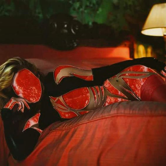 'Pieces of Meat' by Inge Jacobsen   #meat #models #collage #art