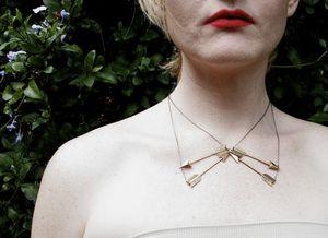 Arrow Collar Necklace $58
