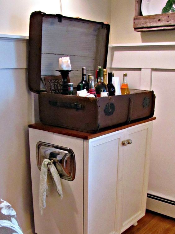 The Painted Home - suitcase bar