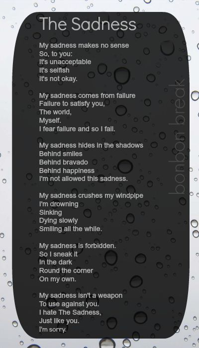 The Sadness by a quiet poet:
