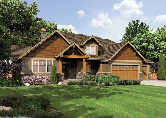 Craftsman  Craftsman homes and House plans on PinterestHouse Plan AA  The Ashby   lodge style craftsman  main level living   upstairs