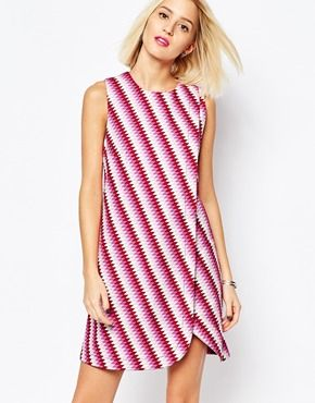 House of Holland Sleeveless Wrap #Dress in Graphic Print.