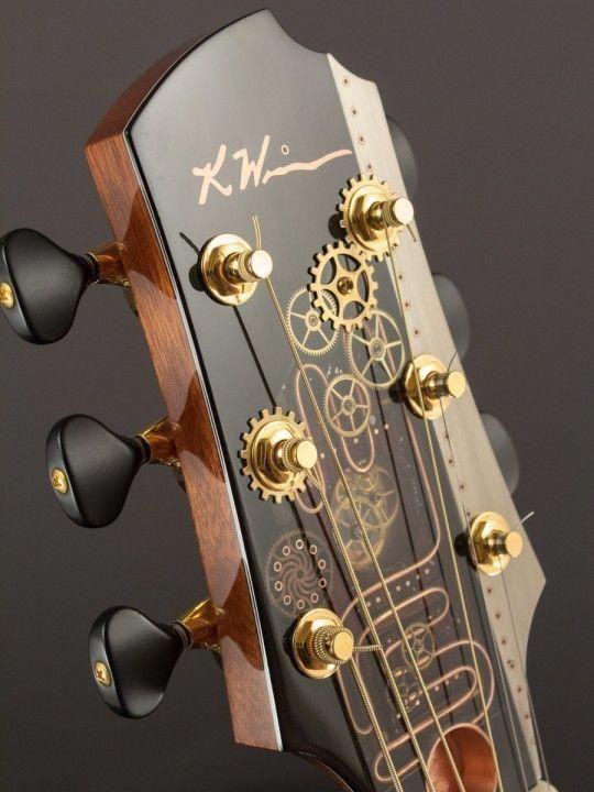 Guitar Tuner To The Cent Guitarhero Guitartuner Guitar Inlay Steampunk Guitar Acoustic Guitar