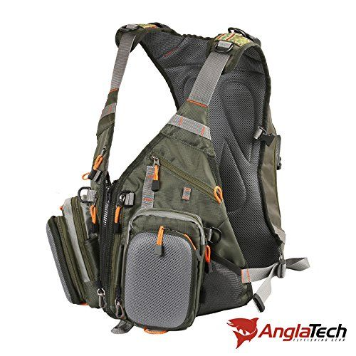 Anglatech fly fishing backpack and vest combo fishing for Fishing tackle backpack