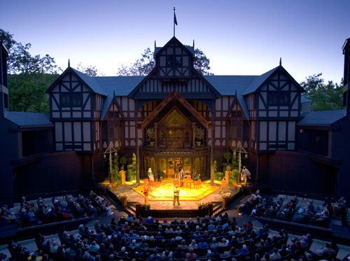 ashland oregon shakespeare festival   Oregon Shakespeare Festival - Ashland     Spent a summer in this hippie college town, 1972.  Saw every play at this theater, killed rattlesnakes in the hills, hung at Lithia park, lounged in the natural hot springs that popped up everywhere, and traveled the area.  Lovely town.