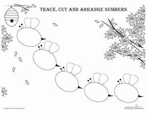 math worksheet : arranging numbers bees  kindergarten counting worksheets and  : Fine Motor Worksheets For Kindergarten