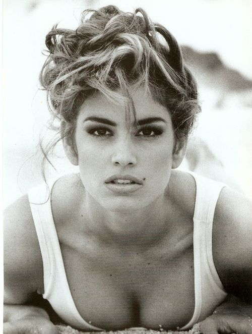 """""""Pure And Healthy"""", Vogue Italia, January 1992Model: Cindy Crawford"""