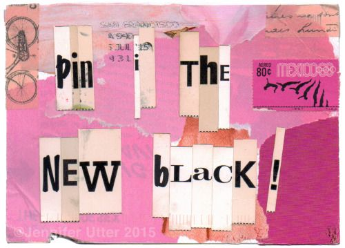 from Jennifer Utter,  Pink is the New Black!