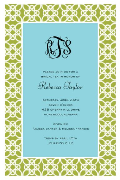 Nautique (Green) Engagement Party, Bridal Shower or Rehearsal Dinner Invitation by Stacy Claire Boyd | Paper & Pearl