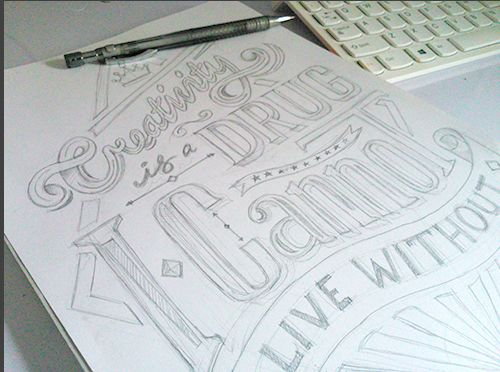 Rascunhos por Awal Rhamdan #typography