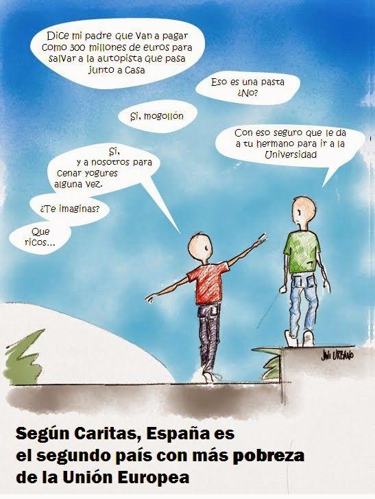 Noticias de las que no sentirse orgulloso - España el segundo país con más pobreza infantil de la UE.