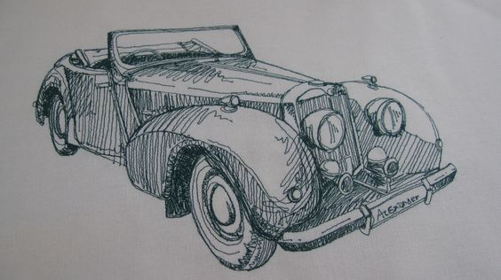 A favourite vintage car - into stitches.