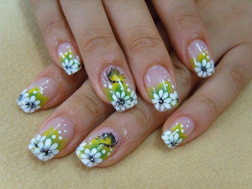Flower Nail Design: Art Idea, Art Design, Nail Design, Nail Art