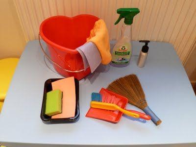 Elaine Ng Friis: Montessori Activity: Preschooler's Cleaning Kit