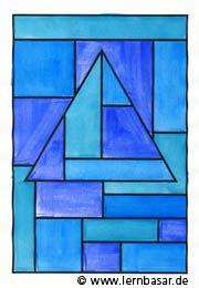 Geometrische Formen, Ton in Ton - tolle Idee für Ihren Kunstunterricht