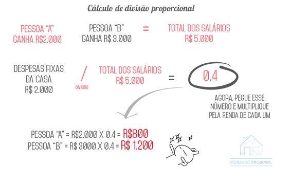 Finanças | Dividindo as contas da casa (Divisão Proporcional)