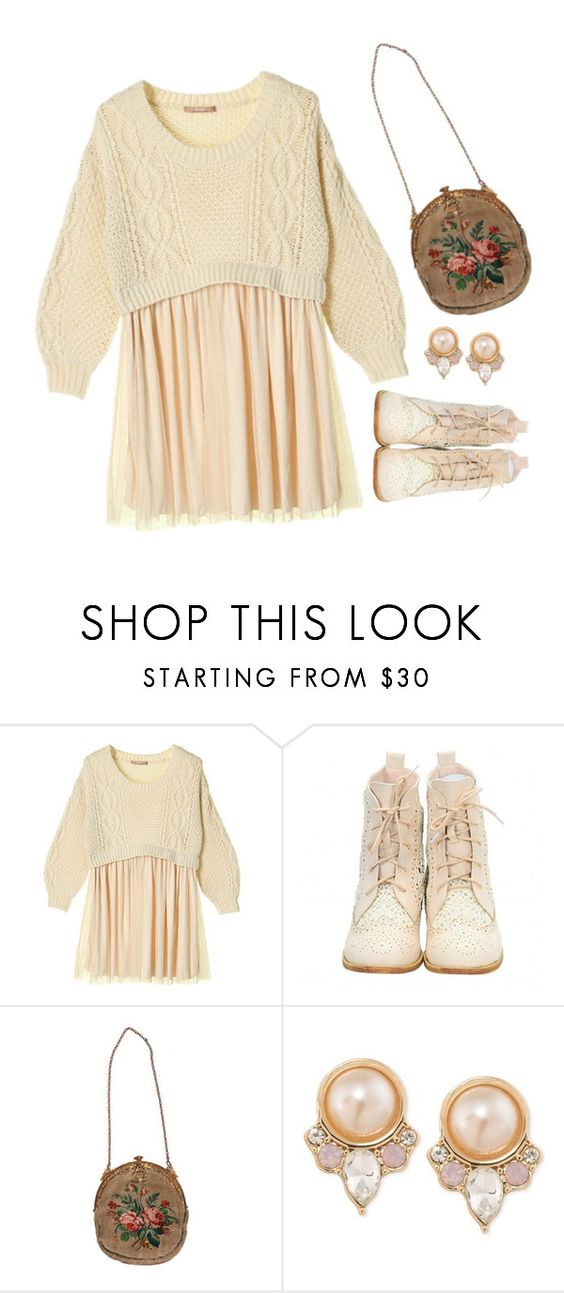 """""""comeback   three"""" by flowercrowngal ❤ liked on Polyvore featuring Carolee"""