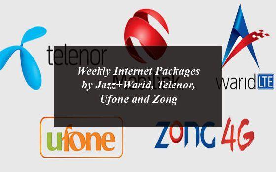 Weekly Internet Packages By Jazz Warid Telenor Ufone And Zong Internet Packages 4g Internet Internet
