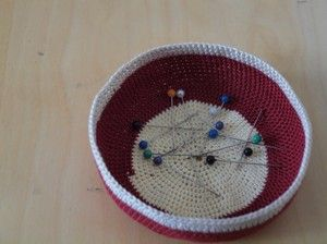 Taça em crochet #1